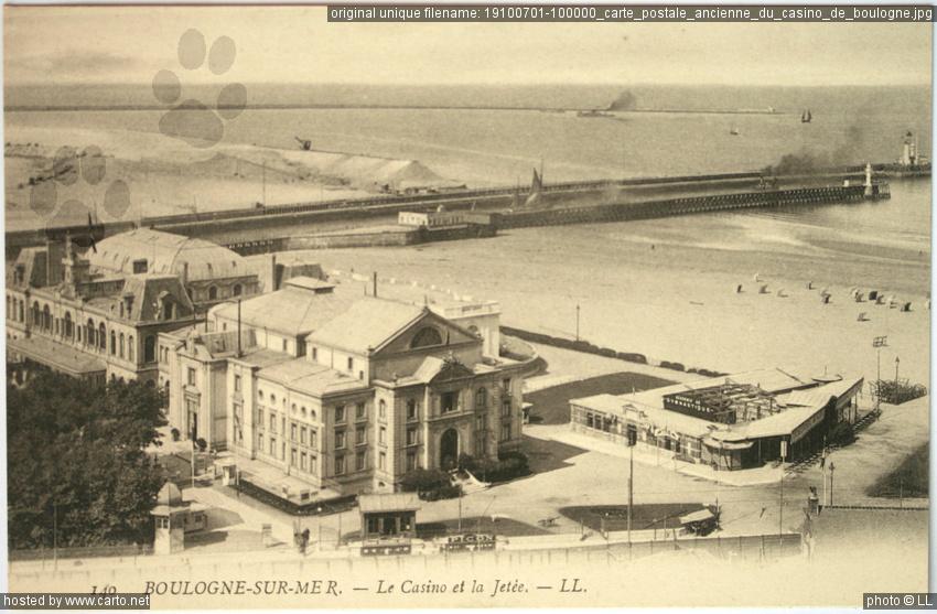Carte postale ancienne du casino de boulogne anciennes - Office du tourisme de boulogne sur mer ...