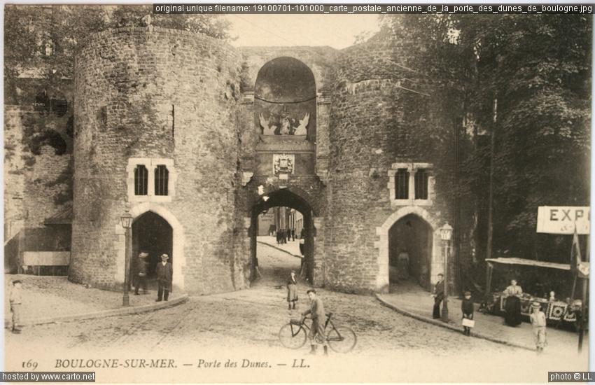 Carte postale ancienne de la porte des dunes de boulogne for Porte carte postale sur pied
