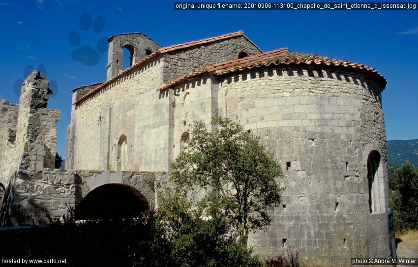 chapelle de saint etienne d 39 issensac grand tour de france 2001 ao t 2001. Black Bedroom Furniture Sets. Home Design Ideas