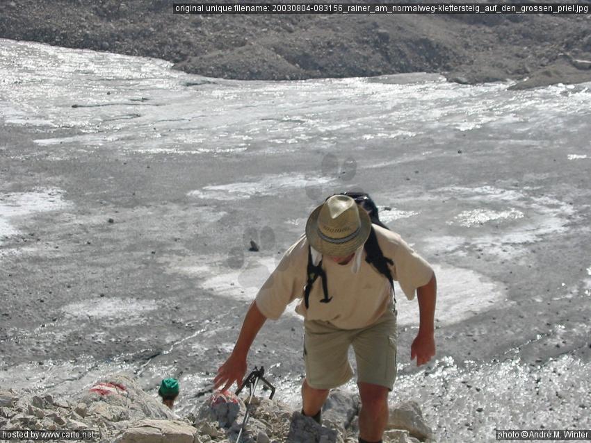 Klettersteig Priel : Rainer am normalweg klettersteig auf den grossen priel vom