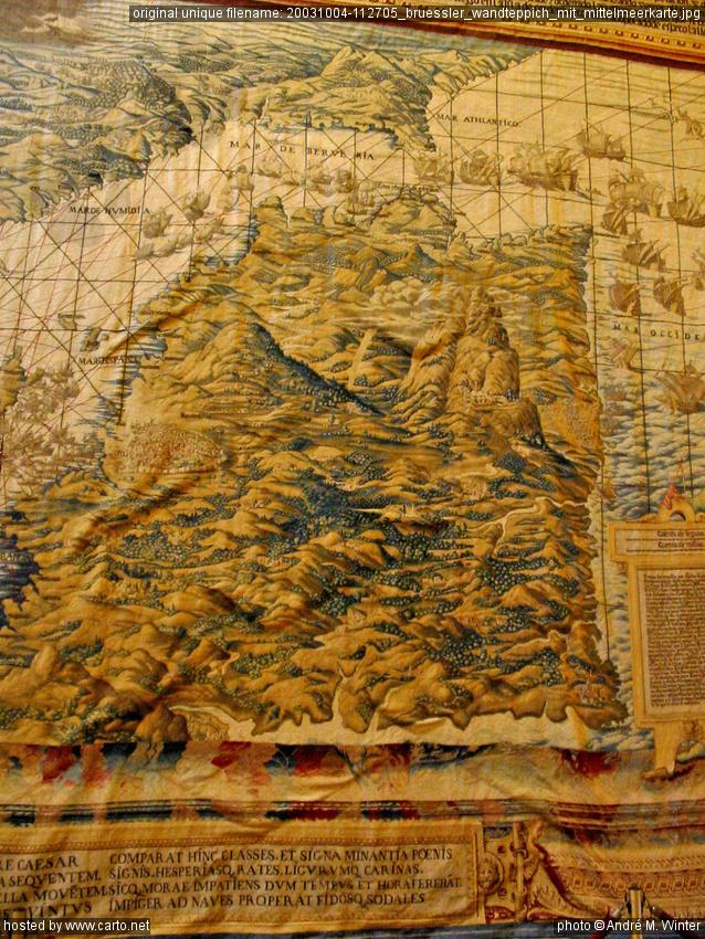 Brüssler Wandteppich mit Mittelmeerkarte (Sevilla