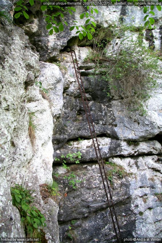 Oberteil der langen Leiter (Myrafälle und Steinwandklamm ...