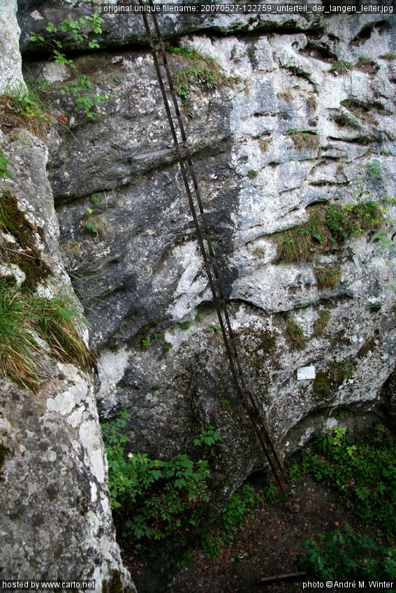 Unterteil der langen Leiter (Myrafälle und Steinwandklamm ...