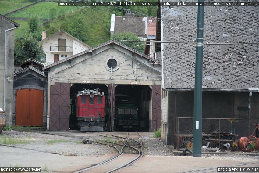 Remise de locomotives de la sg lm saint georges de for Maison saint georges de commiers