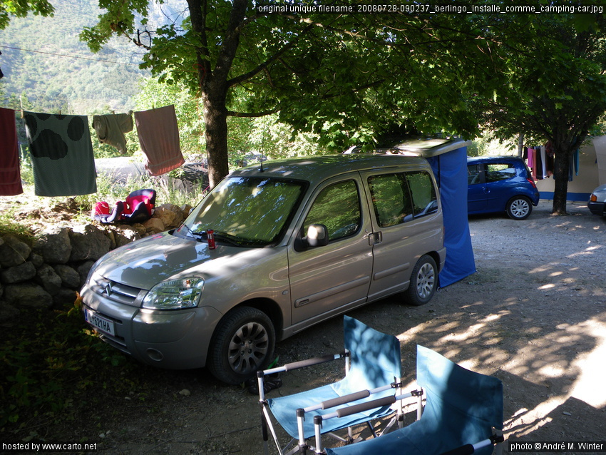 berlingo install comme camping car verdon et gorges du bau juillet 2008. Black Bedroom Furniture Sets. Home Design Ideas