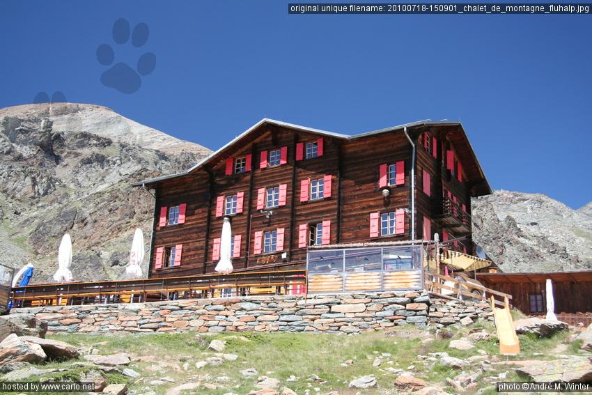 Chalet De Montagne Fluhalp Zermatt Findeln Flue