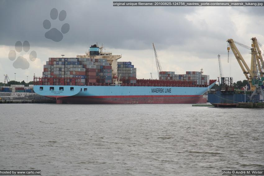 Navires porte conteneurs maersk tukang port de rotterdam for Porte conteneur