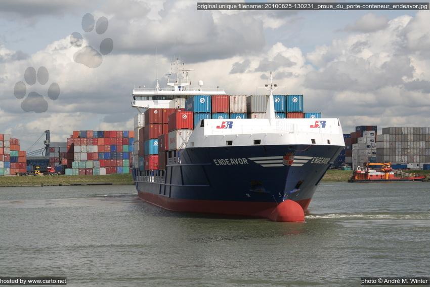 Proue du porte conteneur endeavor port de rotterdam for Porte conteneur