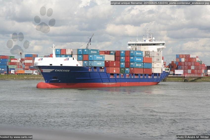 Porte conteneur endeavor port de rotterdam ao t 2010 for Porte conteneur