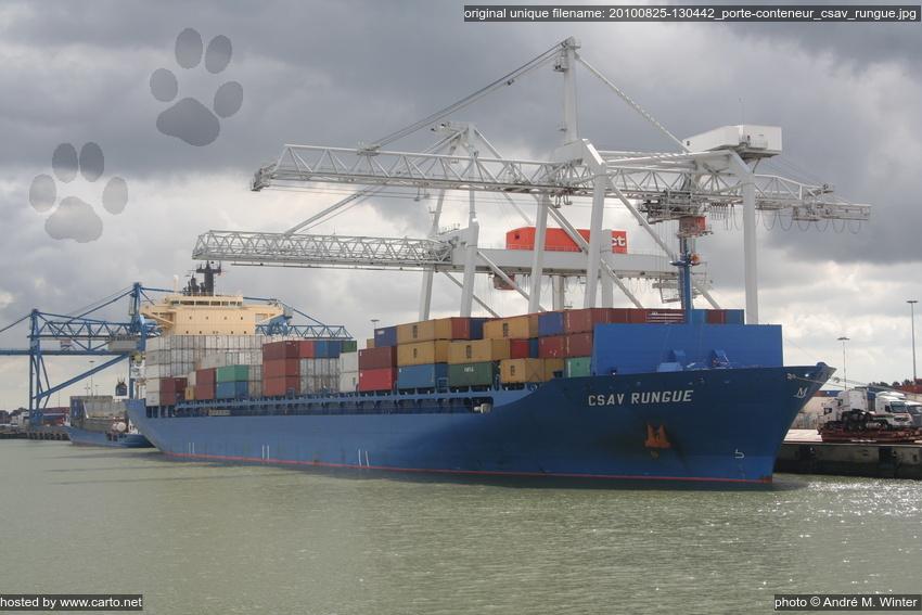 Porte conteneur csav rungue port de rotterdam ao t 2010 for Porte conteneur