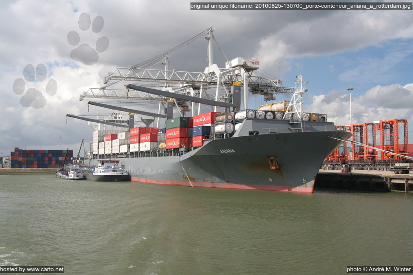 Porte conteneur ariana rotterdam port de rotterdam for Porte conteneur