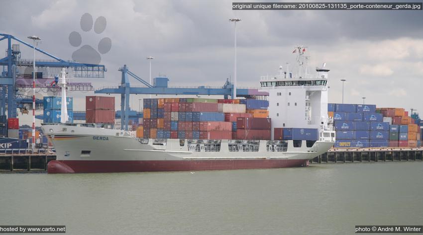 Porte conteneur gerda port de rotterdam ao t 2010 for Porte conteneur
