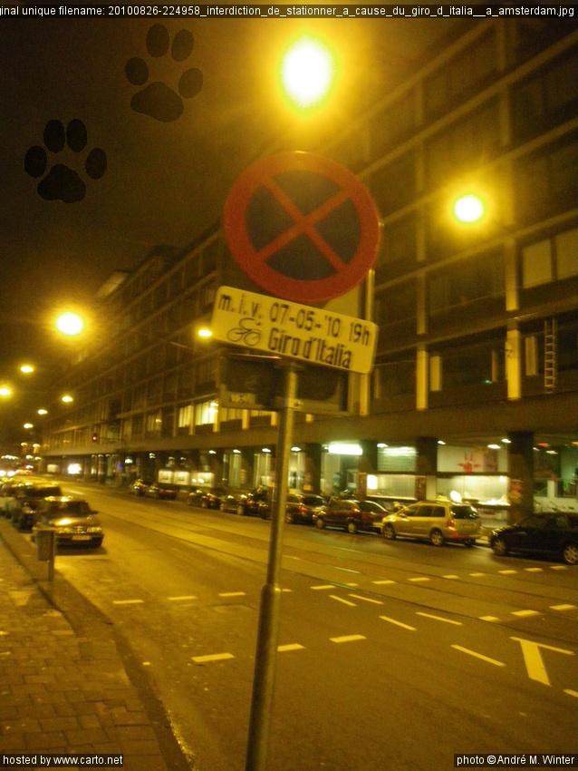 Interdiction de stationner cause du giro d 39 italia - Interdiction de stationner ...