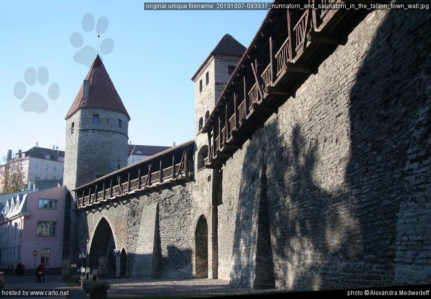 Nunnatorn and Saunatorn in the Tallinn town wall (Tallinn ...