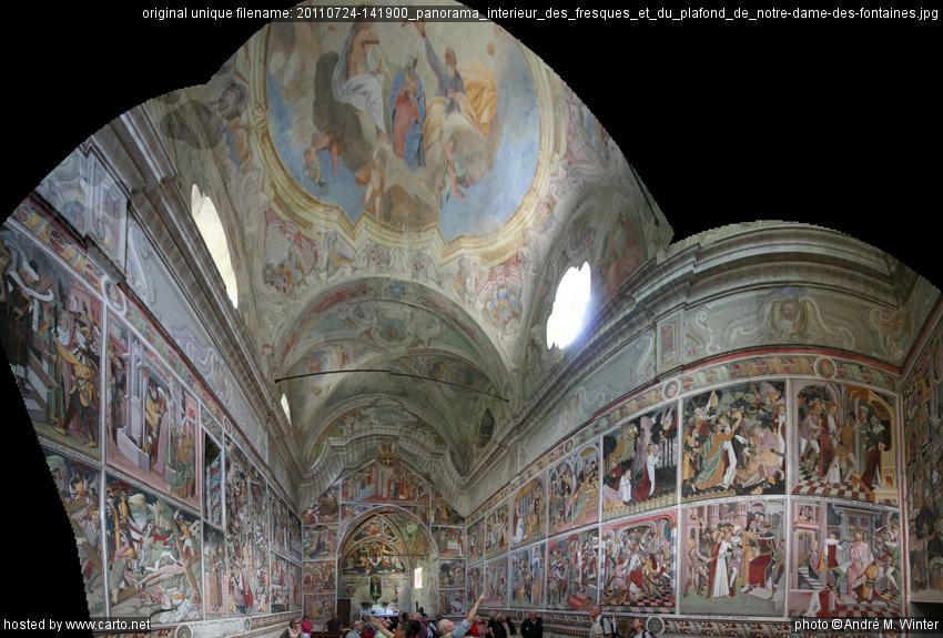 Panorama int rieur des fresques et du plafond de notre - Plafond de la chapelle sixtine description ...