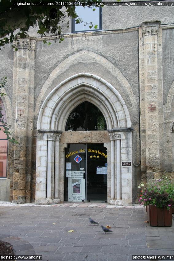 Porte du couvent des cordeliers d 39 embrun embrun - Mise a la porte du couvent ...