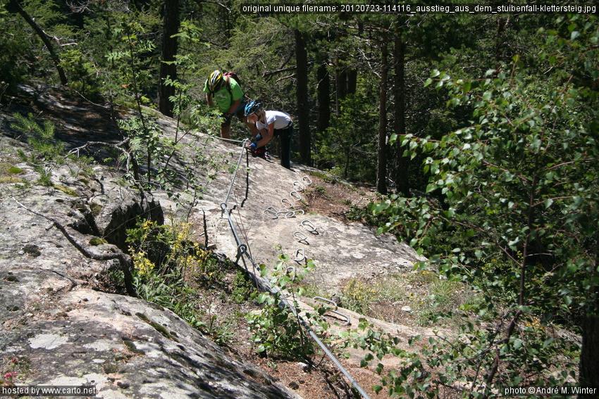 Klettersteig Stuibenfall : Ausstieg aus dem stuibenfall klettersteig in umhausen