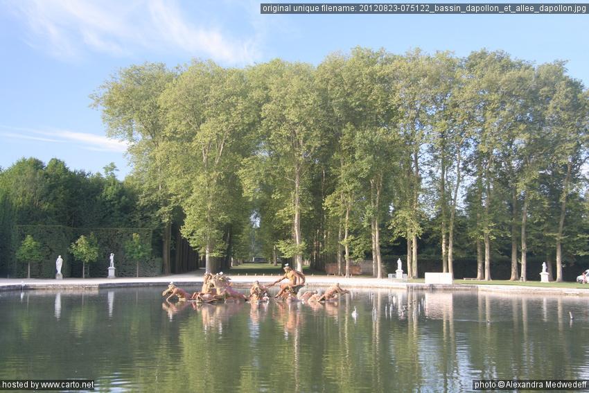 Bassin d apollon et all e d apollon jardins de versailles for Jardin de versailles