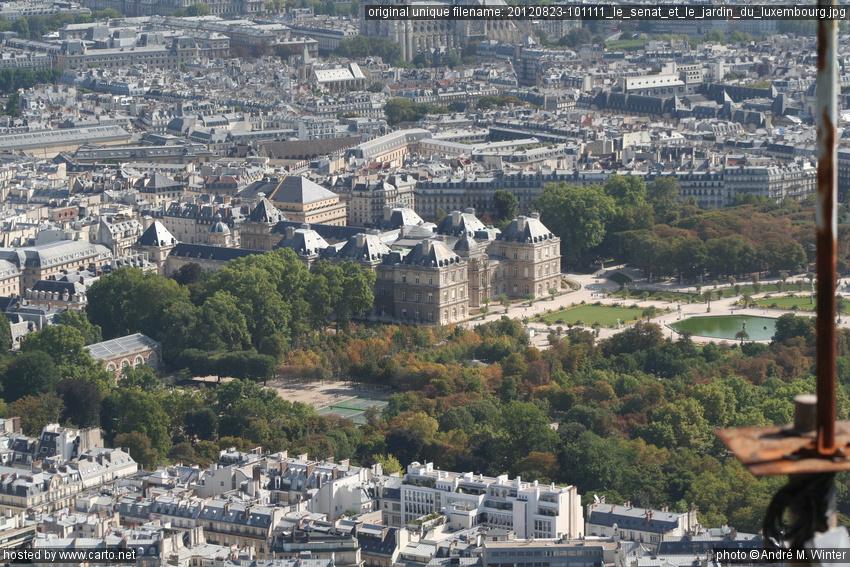 Le s nat et le jardin du luxembourg panorama de la tour for Le jardin luxembourg