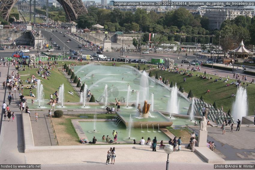 Fontaines du jardins du trocad ro trocad ro ao t 2012 for Jardin trocadero