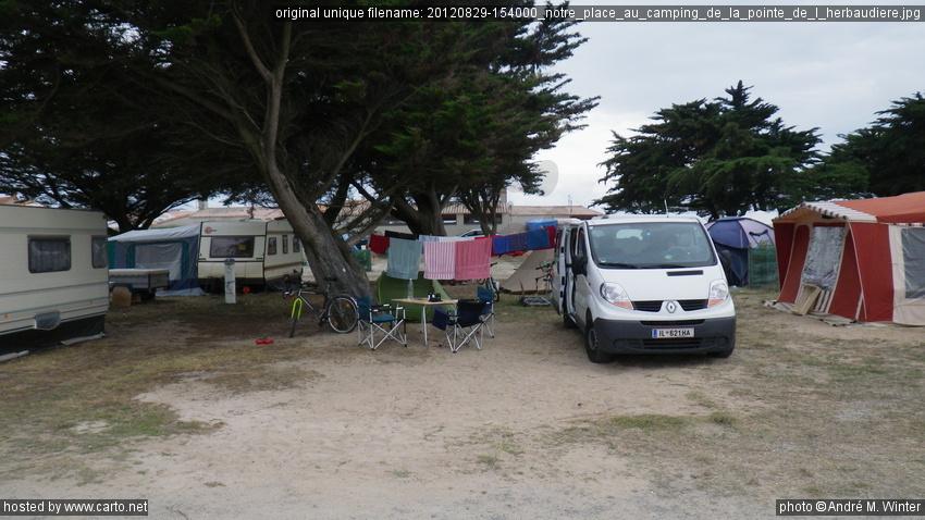 notre place au camping de la pointe de l 39 herbaudi re tour. Black Bedroom Furniture Sets. Home Design Ideas