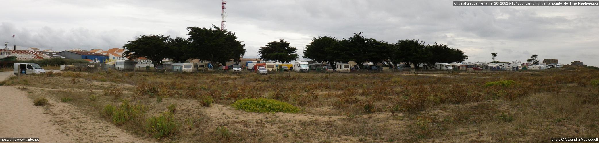 Camping de la pointe de l 39 herbaudi re tour de noirmoutier en l 39 le v lo ao t 2012 - Camping bois de la chaise noirmoutier ...