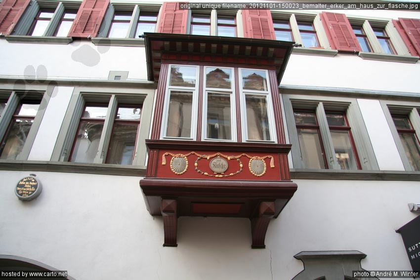 Erker Am Haus : bemalter erker am haus zur flasche sp therbstlicher ~ A.2002-acura-tl-radio.info Haus und Dekorationen