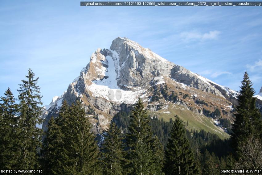 Wildhauser schofberg 2373 m mit erstem neuschnee