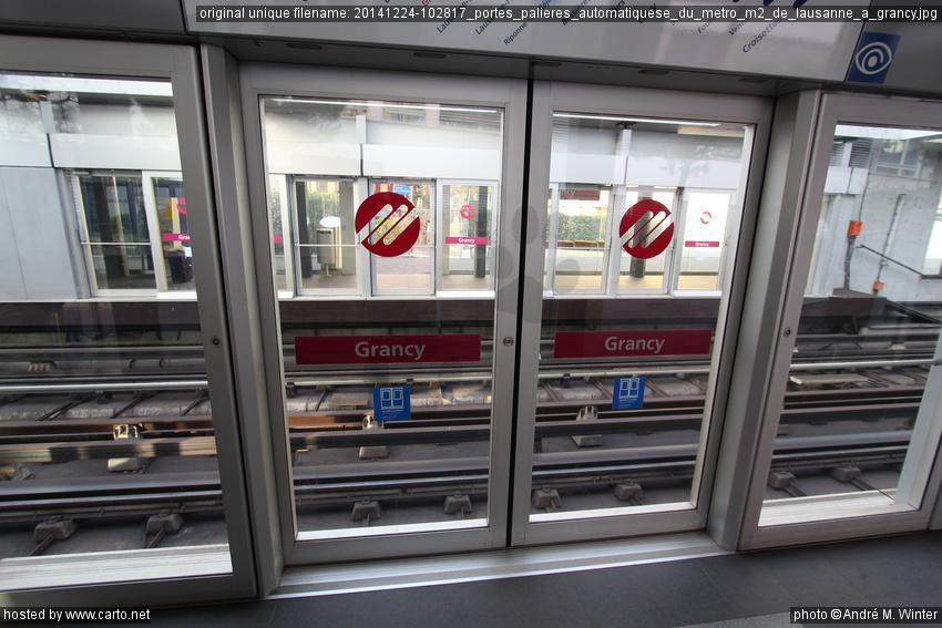 Portes Palières Automatiquese Du Métro M De Lausanne à Grancy - Portes palières