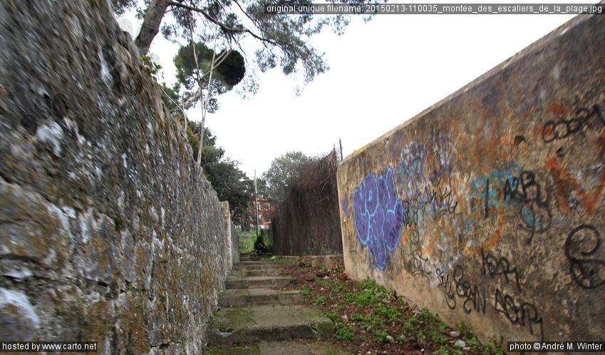 Mont e des escaliers de la plage balade autour du cap martin sur la promenad - La montee des escaliers ...