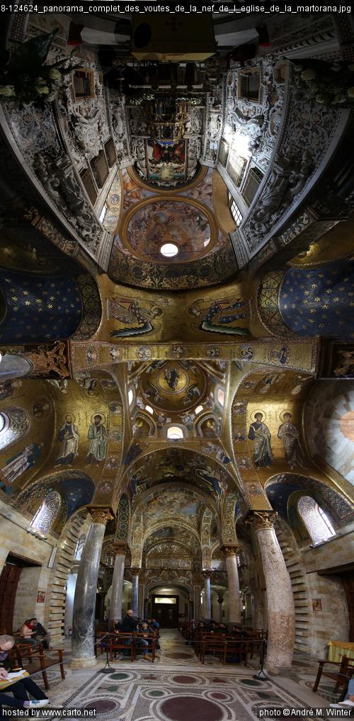 Panorama complet des voûtes de la nef de l'église de la ...