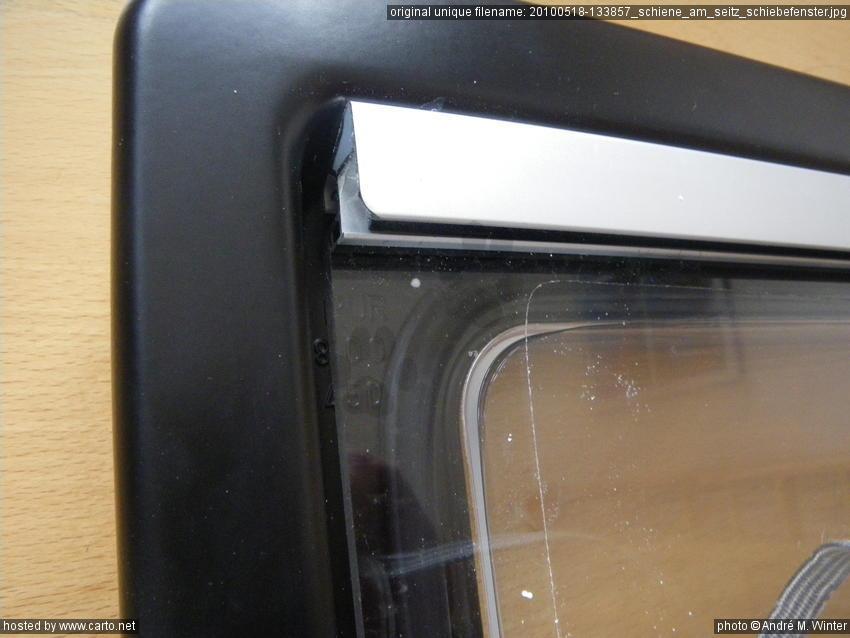 Schiene am seitz schiebefenster seitz dometic fenster for Schiebe fenster